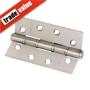 Eclipse Washered Fire Hinges Satin Stainless Steel 102 x 67mm Pk2