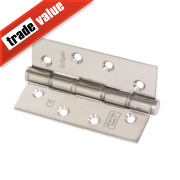 Eclipse Washered Fire Hinges Pol. Stainless Steel 102 x 67mm Pk2