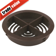 Circular Spffit Vent Brown 70mm Pack of 10