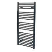 Reina Flat Ladder Towel Radiator Gloss Black 1100 x 500mm 560W 1908Btu