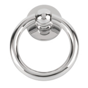 Plain Ring Door Knocker Polished Chrome mm