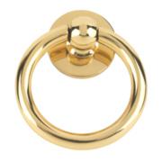 Plain Ring Door Knocker Polished Brass mm