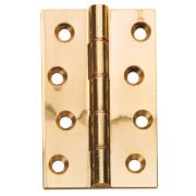 Double Phosphor Bronze Washered Hinges Polished Brass 102 x 76mm