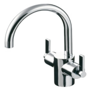 Ideal Standard Silver Basin Mixer Tap