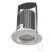 British General Fixed Fire Rated Downlight Brushed Steel 7W 240V