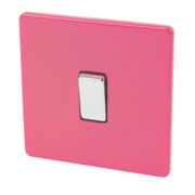Varilight 1-Gang 2-Way 10AX Switch Cerise Pink