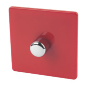 Varilight 1-Gang 2-Way 400W Push Dimmer Claret Red