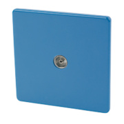Varilight 1-Gang Coaxial TV Socket Cobalt Blue