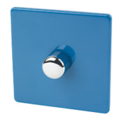 Varilight 1-Gang 2-Way 400W Push Dimmer Cobalt Blue