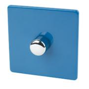 Varilight 1-Gang 2-Way 400W Push Dimmer Cobalt Blue