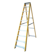 Lyte GFBB10 Swingback Builders Step Ladder Fibreglass 10-Tread 2.17m