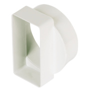 Manrose Round Pipe to Channel Connector White 100mm