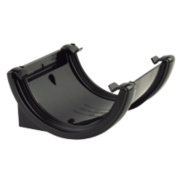 Half Round Union Bracket Black 112mm