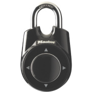 Master Lock One Thumb Control Combination Padlock Black 55mm