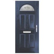 Turnberry Single Light Composite Front Door Blue GRP 880 x 2055mm
