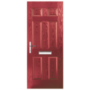 Birkdale Composite Front Door Red GRP 920 x 2055mm