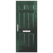 Unbranded Birkdale Composite Front Door Green GRP 920 x 2055mm