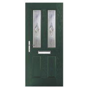 Carnoustie 2-Light Composite Front Door Green GRP 920 x 2055mm