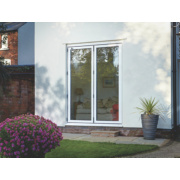 Unbranded Bi-Fold Double-Glazed Patio Door White Aluminium 1794 x 2094mm