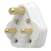 MK 5A Round Pin Plug White