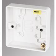 MK 1-Gang Surface Pattress Box White 16mm