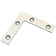 Angle Plates Zinc-Plated 75.5 x 75.5 x 16.5mm Pack of 10