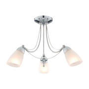 Shinto Chrome Effect 3 Light Ceiling Light