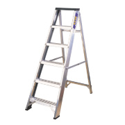 Lyte BSBB6 Swingback Builders Step Ladder Aluminium 6-Tread 1.26m