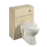 Bathroom WC Unit Inc Toilet & Cistern Oak Shaker 600 x 300 x 810mm