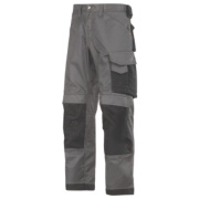 Snickers 3312 DuraTwill Non Holster Trousers Grey / Black 36
