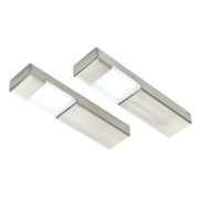 LAP Brushed Chrome Effect Pack of 2