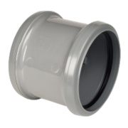 Pipe Coupler Double Socket Grey SP105