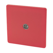 Varilight 1-Gang Coaxial TV Socket Claret Red