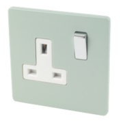 Varilight 1-Gang 13A DP Switched Socket Sage Green