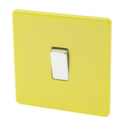 Varilight 1-Gang 2-Way 10A Switch Lime Green