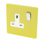 Varilight 1-Gang 13A DP Switched Socket Lime Green