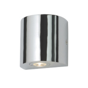 Masterlite Block LED Bathroom Wall Light Chrome 1W