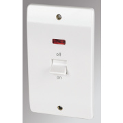 MK 2-Gang 45A DP Switch with Neon White