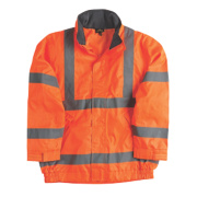 Site Hi-Vis Lightweight Bomber Jacket Orange Large 43