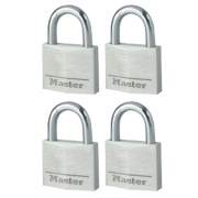 Master Lock Aluminium Keyed Alike Padlocks 40mm Pack of 4