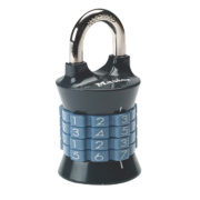 Master Lock Steel & Zinc Combination Padlock Grey 37mm