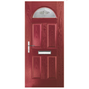 Turnberry Single Light Composite Front Door Red GRP 880 x 2055mm