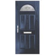 Unbranded Turnberry Single Light Composite Front Door Blue GRP 880 x 2055mm