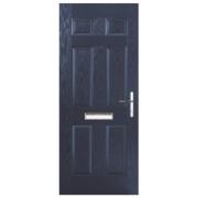 Unbranded Birkdale Composite Front Door Blue GRP 880 x 2055mm