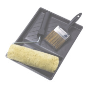 No Nonsense Extra Long Pile Masonry Roller & Brush Kit 4 Piece Set