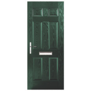 Birkdale Composite Front Door Green GRP 880 x 2055mm