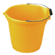 Builders Bucket Yellow 3 Gallon Pack of 3