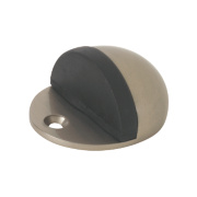 Oval Oval Door Stop Satin Nickel Pack of 2