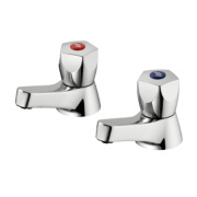 Armitage Shanks Sandringham 21 Bath Pillar Bathroom Taps Pair