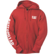 CAT CW10840 Zip Hooded Sweatshirt Chilli S